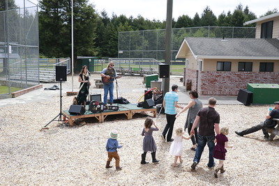 Musical entertainment was part of the Spamley Cup event at Redwood Fields in Cutten on Sunday. (Hunter Cresswell - The Times-Standard)