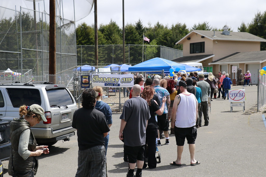 . The Spamley Cup cost $10 for admission and the line to get in extended well past the gates at some points. (Hunter Cresswell - The Times-Standard)