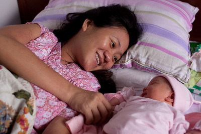 "After 24 hours of observation in Neonatal, without anyone talking to us about what was going on, consulting us or getting our consent for any treatment or care they were giving her, Angeline is finally delivered to our room. Apparently they were concerned for her health, simply because she was so big! i guess they don't normally get 9+ ""lb'nders"" here in Vietnam! We are delighted to finally have her with us in our room, but worry what they did to her behind closed doors for 24 hours!   We really missed that early bonding, and I believe that they started her on formula, which is going to make it harder now to get her breast feeding .....     If I could speak the language, I would go and complain!  But people here in VN, consider it rude to say anything to or against authority figures, so nothing gets said and practices like this continue unchecked!  about a minute ago · LikeUnlike"