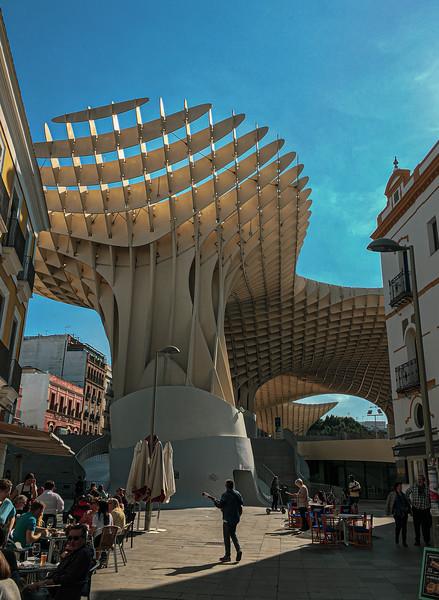 Setas de Sevilla from Calle Regina