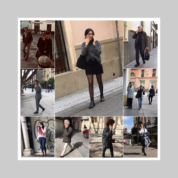 Street photo collage