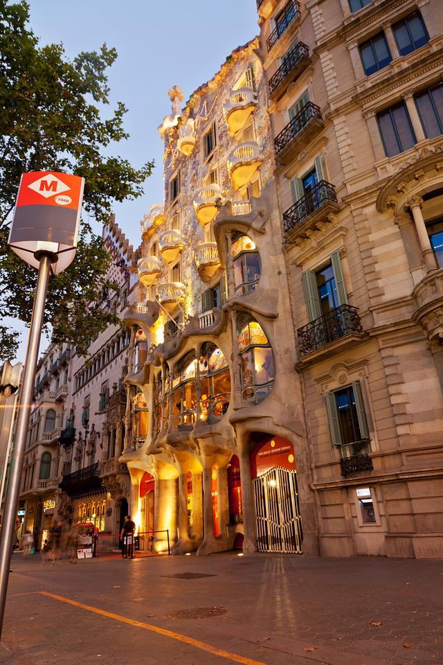 Casa Battlo in Barcelona Spain