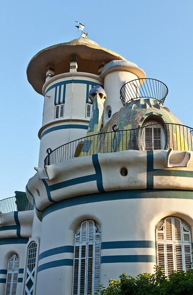Gaudi style building in Sant Just near Barcelona in Spain