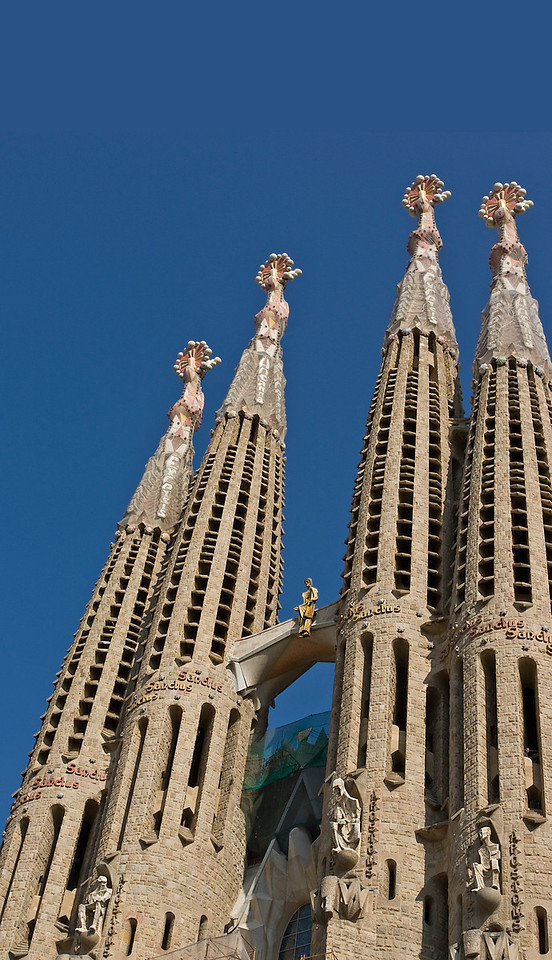 Gaudi's Sagrada Familia Cathedral in Barcelona, Spain