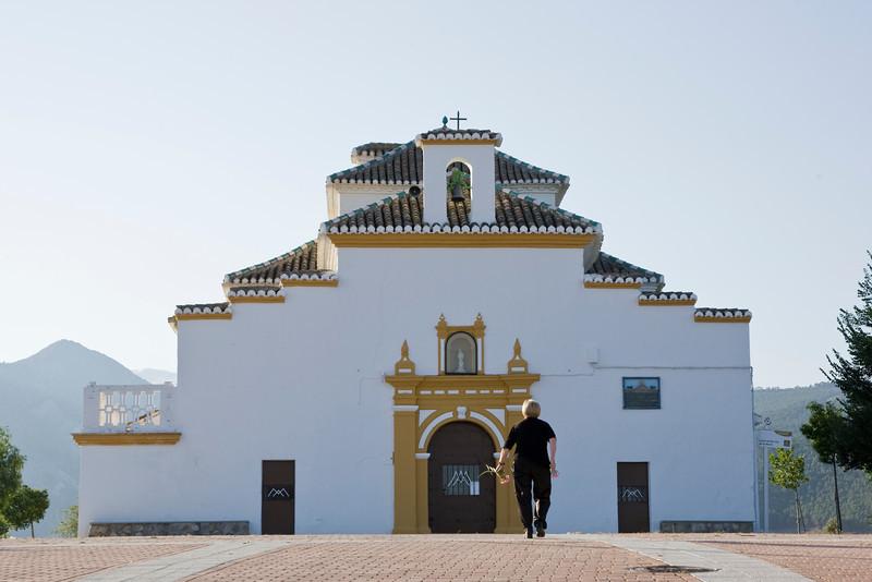Spanish church - paying homage