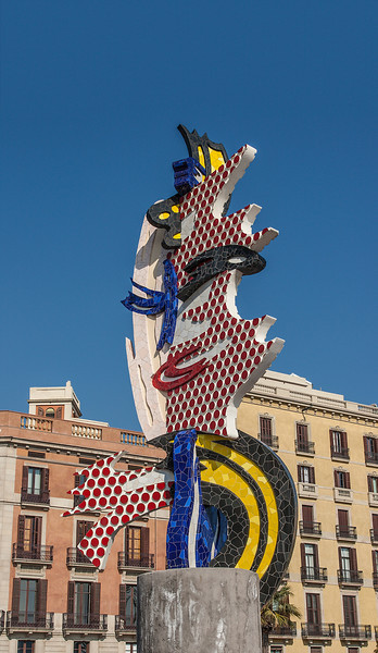 Modern Art Sculpture Barcelona in Spain