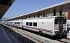 Talgo set 6B17, Algeciras, 2 May 2014 1.  The Talgo concept continues to flourish in Spain.  Loco-hauled Talgo 7 coaches like these were built from 2000.  They are used on Algeciras - Madrid services, amongst others.