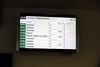 Passenger information screen, Ronda station, 4 May 2014.  This gives some idea of the train service at Ronda.