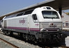 RENFE 334.024.7, Algeciras, 2 May 2014.  The class 334.0 diesel-electrics were built by Macosa as class 333.0 Co-Cos in the 1970s.  Twenty eight were completely rebuilt as Bo-Bos in 2005 - 2009 by Vossloh.