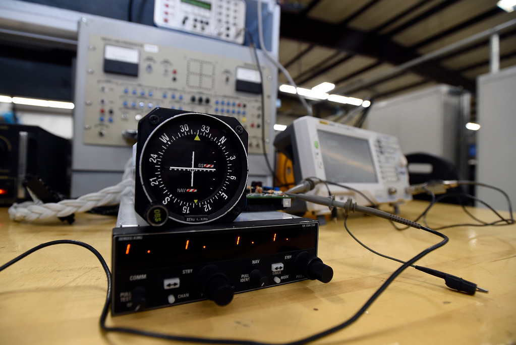 . The Avionics department at the Spartan College of Aeronautics on Wednesday in Broomfield. For more photos of the course activity go to dailycamera.com Jeremy Papasso/ Staff Photographer 06/06/2018