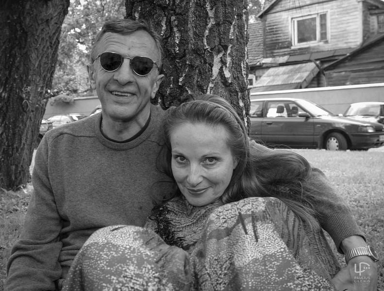 Aktorius Romas Ramanauskas ir žurnalistė Laima Lavaste