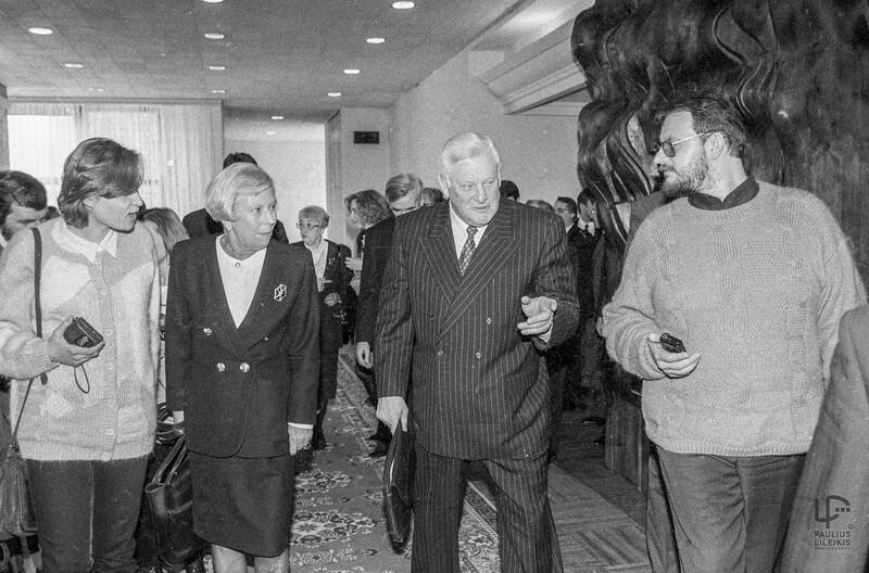 Ugnė Karvelis (antra iš kairės), Algirdas Brazauskas ir Audrius Bačiulis