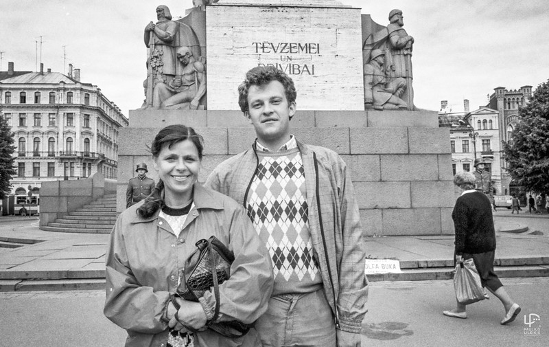 Julija Šliažienė ir Tomas Juknevičius Rygoje.