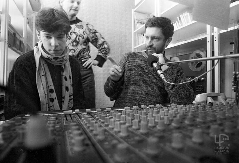 """""""Radiocentre"""". (nuo kairės) Kipras Mašanauskas, Audrius Atroška bei Rimantas Pleikys"""