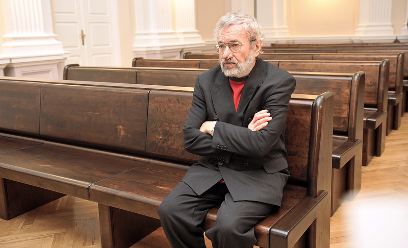 Poetas Sigitas Geda apeliaciniame teisme.