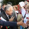 Lenkijos prezidentas Lechas Kaczynskis su žmona(kairėje)