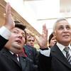 Emanuelis Zingeris ir Izraelio prezidentas Mošė Kacavas.