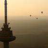 Vilnius iš oro baliono.Televizijos bokštas,tv bokštas,antena.
