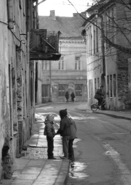 Paupio gatvės vaikai.Vilnius,Užupis