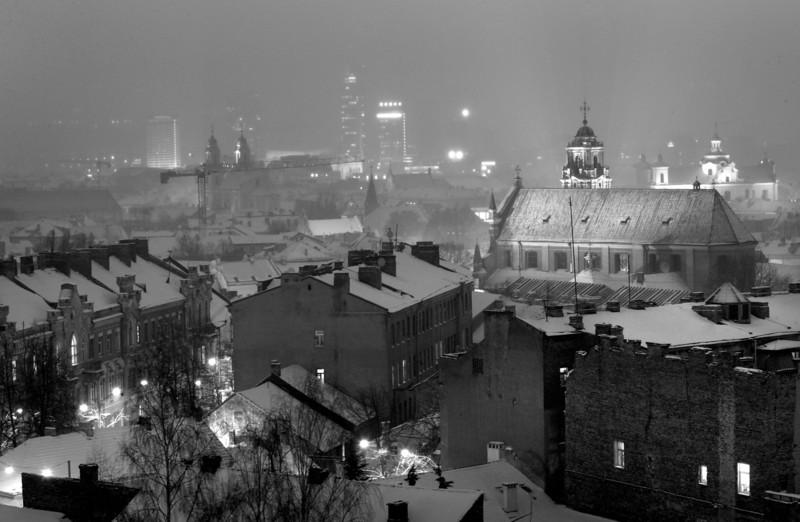 Naktinio Vilniaus panorama.