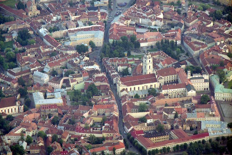 Vilniaus senamiestis iš oro baliono