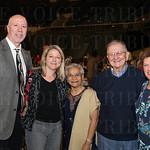 Athletic Director Roger Burkman, Judge Judy McDonald Burkman, Sister Margaret Rodericks, Michael and Joan McDonald.