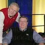 Denny Crum and Joe B. Hall.