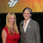 Metro Councilwoman Angela Leet and Spalding University President Tori Murden.
