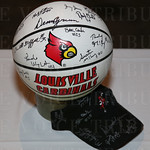 This 1980 NCAA Championship team autographed basketball was a silent auction item.