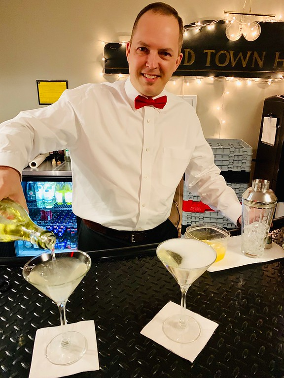 . Spiffy bartender Joe Varnum of Chelmsford mixes up a Twinkle Martini.