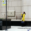 stoping to get the shot.<br /> Love the yellow coat and blue scarf