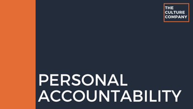 Personal Accountability/Personal Development