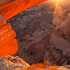 Egg Shell Arch.  The best time to see this arch is right around Thanksgiving, nearing sunset.