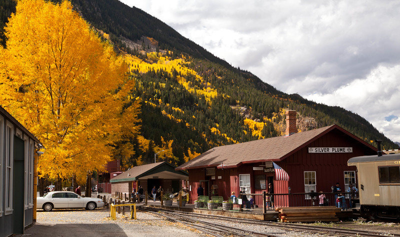 The Silver Plume station of the Georgetown Loop Railroad.  The air was cool, clean, and fragrant.