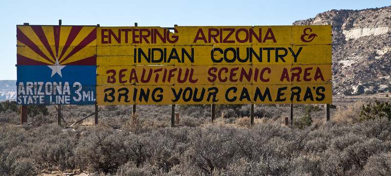This colorful sign was on the New Mexico side of the Arizona/New Mexico state line, and seemed to capture the feel of Route 66 for the next several miles.