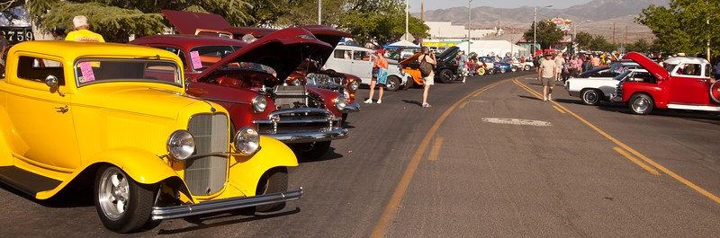 One of the things that comes to mind when somebody thinks about Route 66 is the Car Shows.  This was the 26th Annual Fun Run in Kingman, AZ, May 2013.