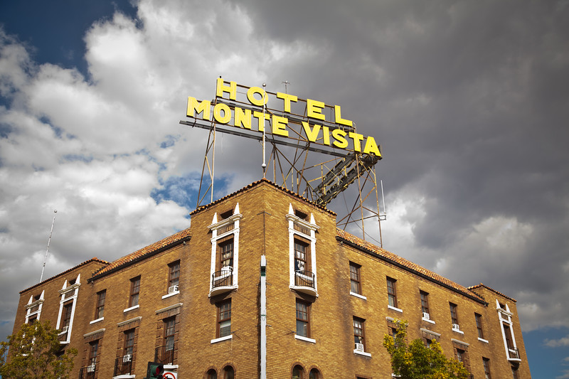 A famous land mark in Flagstaff, AZ; the Hotel Monte Vista