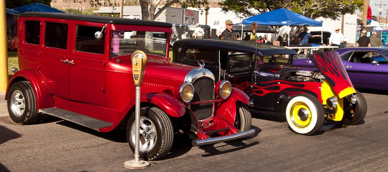 Hot Rods were the stars of the 2013 Fun Run in Kingman, AZ.