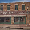 Standin on the Corner in Winslow, AZ, on Route 66.  This scene commemorates the Eagles song of the same name.
