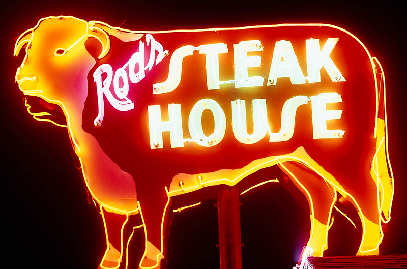 A few decades ago, Rod's Steakhouse was the only thing going on in Williams, AZ.  Now that the Grand Canyon Railway has started transporting people from Williams to the Grand Canyon, the town has come fully back to life.  I can say without fear of contradiction: Rod's Steakhouse has the best prime rib I have ever had.