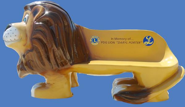4'L Lion Bench #7283