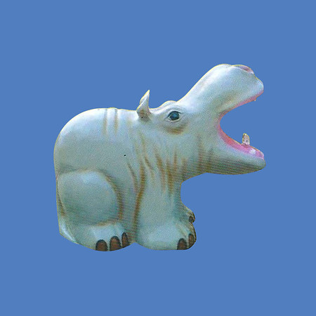Hippo Fountain, 3'H #9074