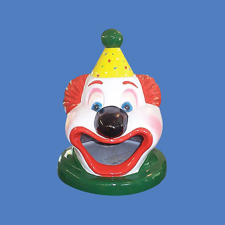 Clown Head Trash Can Cover #6021