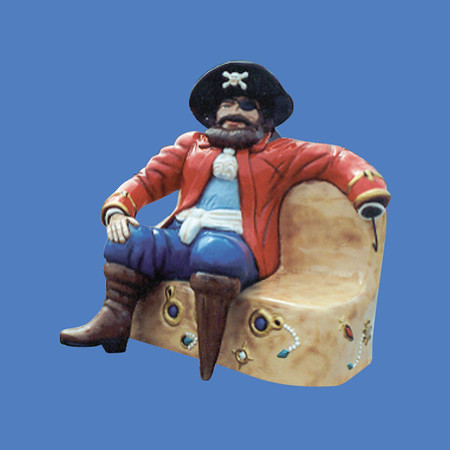 Pirate on Bench, 4'L #8045