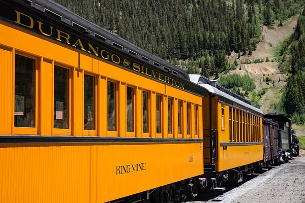 Passenger Cars, Historic Durango and Silverton Narrow Gauge Railroad, Silverton Station, Colorado