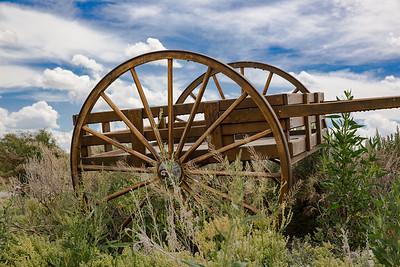 Handcart Replica Near Sweetwater Junction, Sixth Crossing Mormon Pioneer Historical Site, Wyoming
