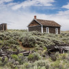Schoolhouse, Wagons, and Outhouse, South Pass City Historic State Park, Wyoming