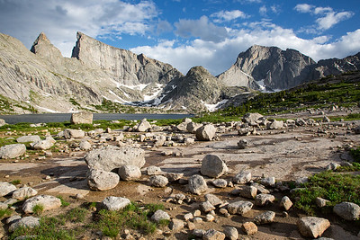 Deep Lake, East Temple Peak, and Temple Peak, Wind River Range, Wyoming