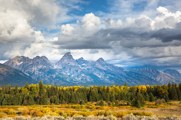 Grand Tetons From Blacktail Ponds, Grand Teton National Park, Wyoming