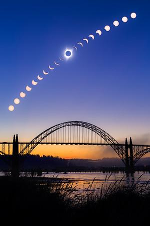 Great American Eclipse - Newport, Oregon